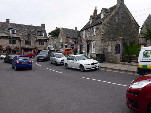 Traffic congestion in Corfe Castle