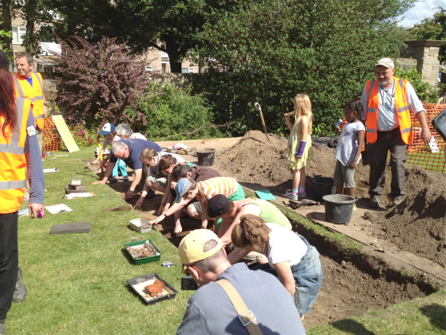 Archaeology taster day, St John's House: the dig