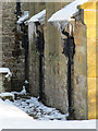 SJ2360 : Icicles on St Mary's, Nerquis/Nercwys by John S Turner