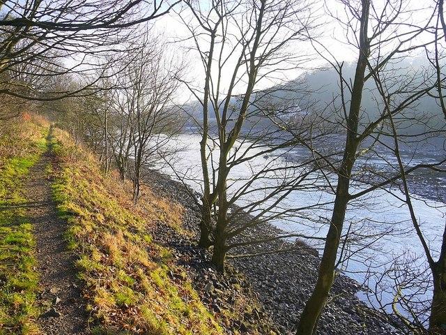 Path on north bank of River Tyne