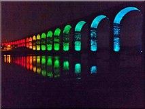 NT9953 : Border Bridge illuminated 4 by Barbara Carr