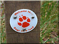SY9787 : Waymark disc at RSPB Arne by Phil Champion