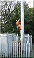 SP2865 : Climbing a mast to manually adjust an antenna by Robin Stott
