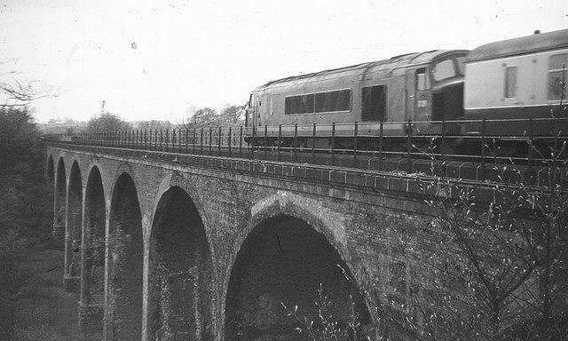 Southburn Dene railway viaduct, 1968