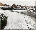 ST3090 : Snowy corner of Larch Grove and Laurel Crescent, Malpas, Newport by Jaggery