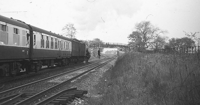 Flying Scotsman approaching Chester-le-Street, 1968