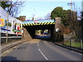 TL1314 : Railway Bridge & B652 Station Road, Harpenden by Adrian Cable
