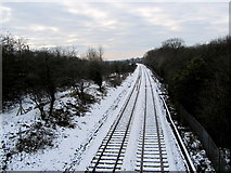 SD7543 : Railway heading towards Clitheroe by Chris Heaton