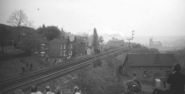 Railway line, Durham, 1968