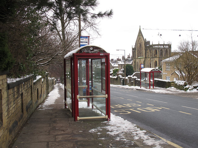 Bus stops on Free School Lane