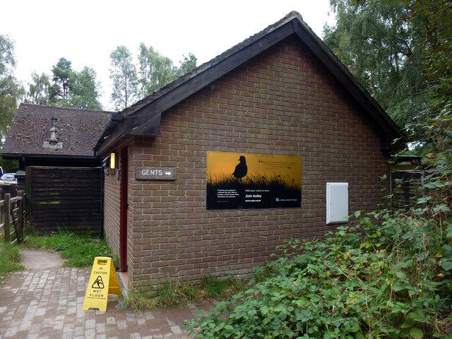 Visitor toilets at RSPB Arne nature reserve