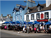NW9954 : Crown and Waterfront Hotels Portpatrick by Steve Houldsworth