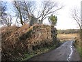 NT2290 : Bridge buttress, Kirkcaldy District Railway by Richard Webb
