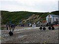 SY8279 : Landing stage on the beach at Lulworth Cove by Phil Champion