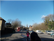 TQ3473 : View of St Peter's Ecumenical Centre from Lordship Lane by Robert Lamb