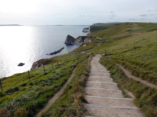 Steps on the footpath between Lulworth Cove and Durdle Door