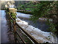 ST4593 : Weir on the Castrogi Brook in the Coombe Valley by Jeremy Bolwell