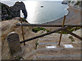 SY8080 : Damaged steps at Durdle Door by Phil Champion