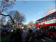 TQ3473 : View up Lordship Lane from outside the Deeper Life Bible Church by Robert Lamb