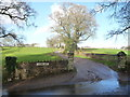 ST4692 : Entrance to Coombe Farm by Jeremy Bolwell