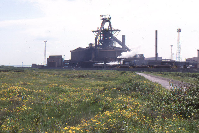 Redcar steelworks from the road to South Gare