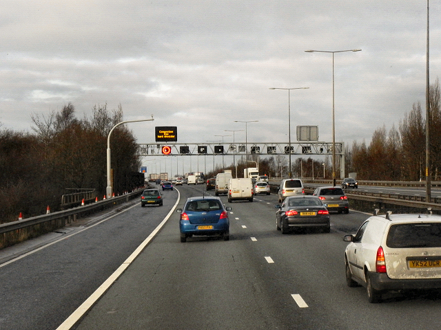 Northbound M6 near Bloxwich