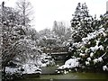 ST3087 : The bottom of the cascade in the snow, Belle Vue Park by Robin Drayton