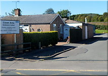 SO4382 : Entrance to Craven Arms Ambulance Station by Jaggery