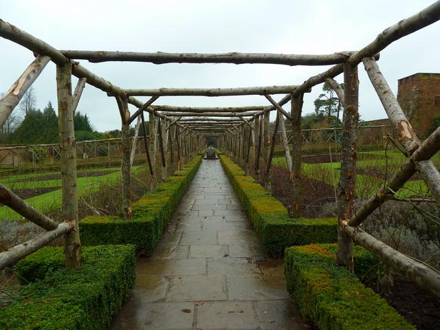 Polesden Lacey, Path in walled garden