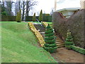 TQ1352 : Polesden Lacey, Steps with topiary by Alexander P Kapp