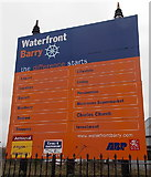 ST1167 : Barry Waterfront sign by Jaggery