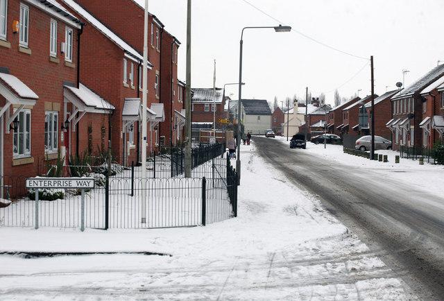 Thrumpton Lane in the snow