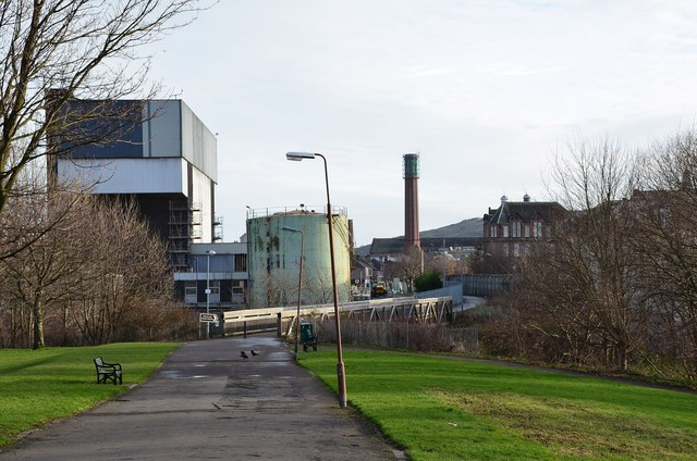 Industrial plant by St Mark's Park by Jim Barton