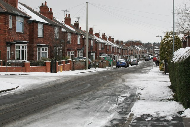 Trent Street in the snow