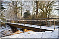 NY4157 : Foot/cycle path over Brunstock Beck by David Liddle