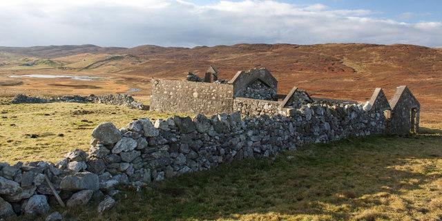 Ruined croft near Neap, Shetland Islands