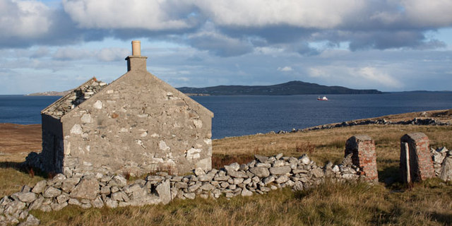 Ruined crofthouse near Neap, Shetland Islands