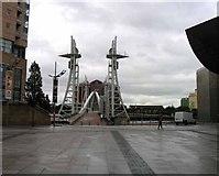 SJ8097 : Salford Quays Lift Bridge by Andrew Tatlow