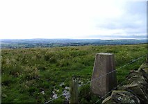 SK0255 : Moortop triangulation pillar from the south by Andrew Tatlow