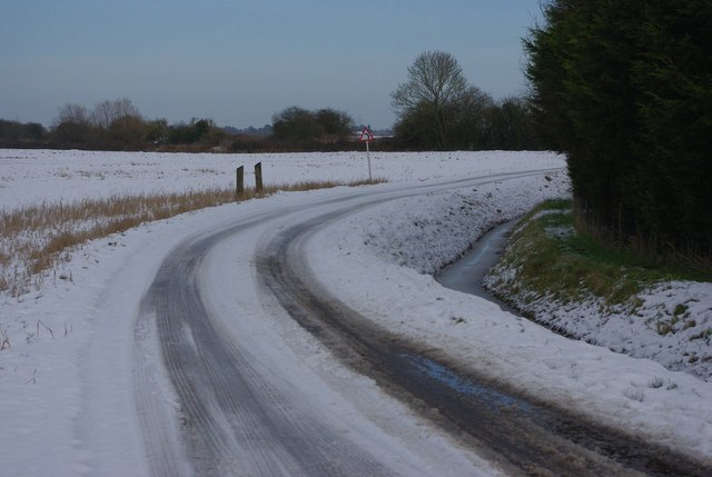 Common Road in the snow