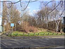 SO9699 : Disused railway embankment  - St Annes Road by John M