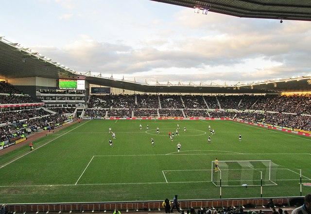 Pride Park: Derby County v Huddersfield Town