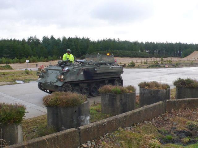 Tank training on Bovington Heath