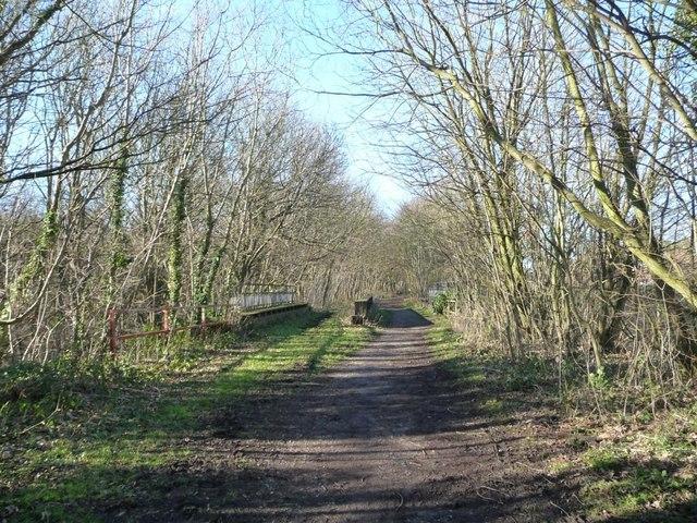 Former railway line crossing House Carr Lane