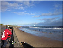 NZ3573 : Whitley Sands at Whitley Bay by Ian S