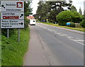 ST7499 : Destinations sign, Kingshill Road, Dursley  by Jaggery