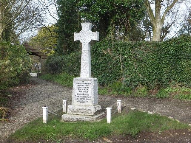 Philleigh war memorial
