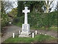 SW8739 : Philleigh war memorial by David Smith