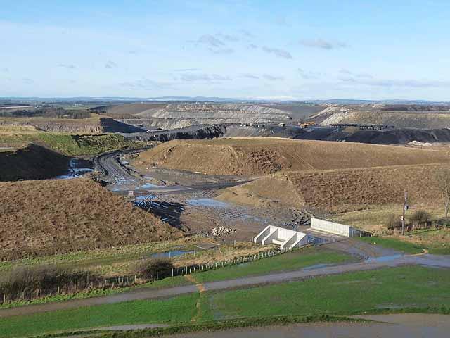 Desolation to the north of Northumberlandia