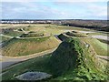 NZ2377 : Looking down her nose, Northumberlandia by Oliver Dixon